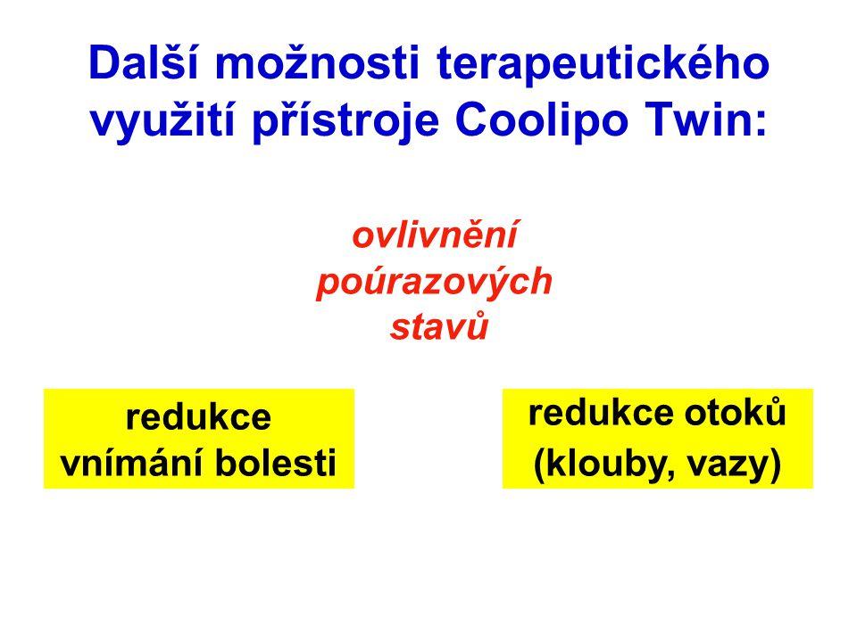 Další možnosti terapeutického využití přístroje Coolipo Twin: