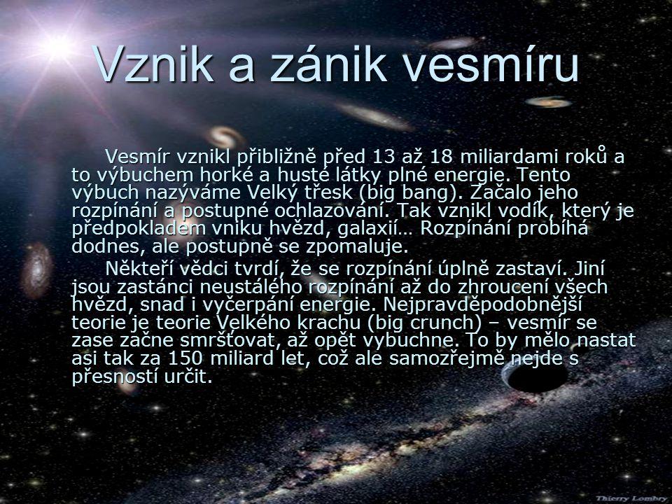 Vznik a zánik vesmíru