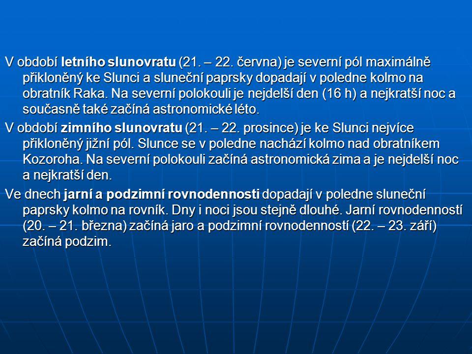 V období letního slunovratu (21. – 22