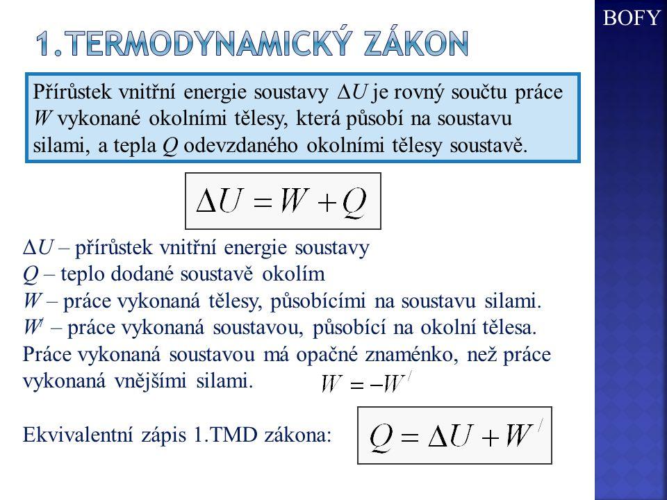 1.Termodynamický zákon BOFY