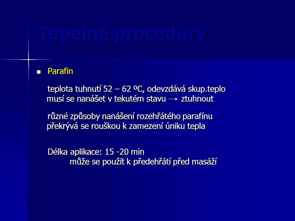 Tepelné procedury Parafin