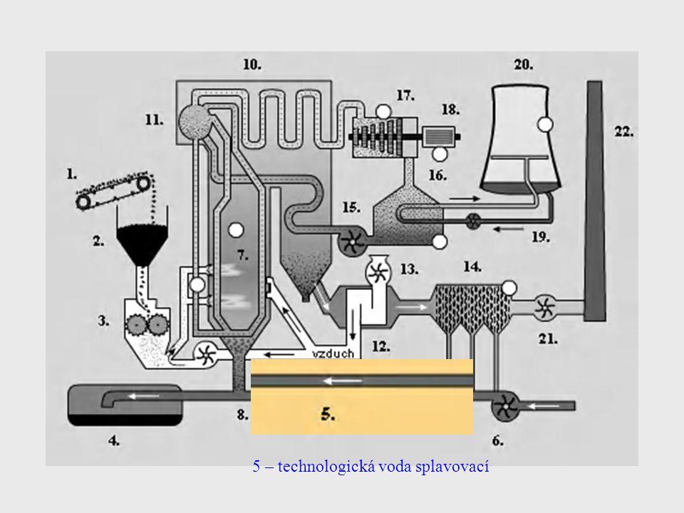 5 – technologická voda splavovací