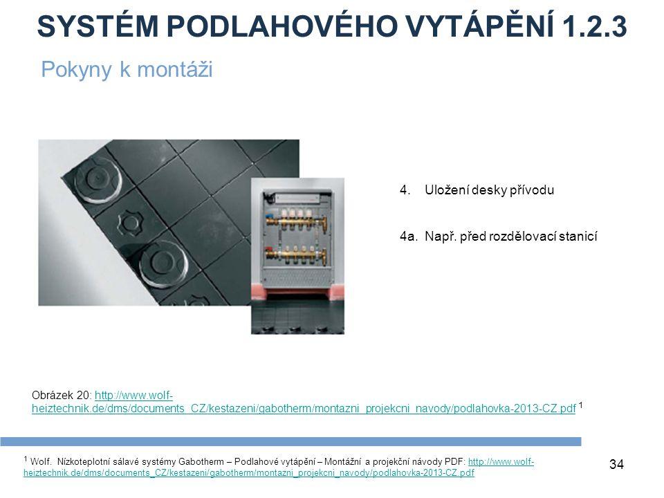 SYSTÉM PODLAHOVÉHO VYTÁPĚNÍ 1.2.3