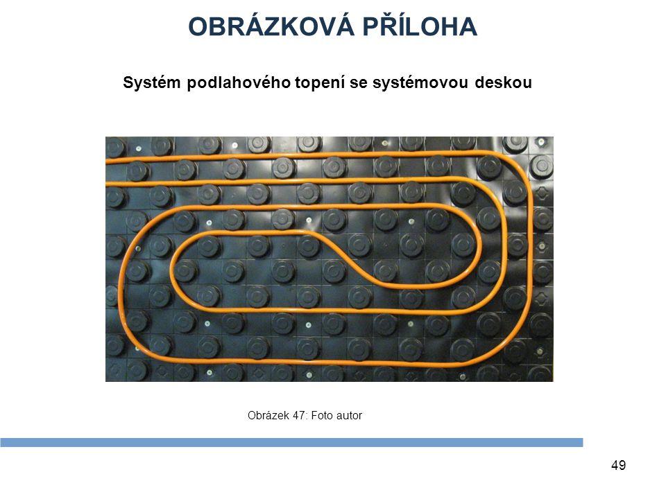 OBRÁZKOVÁ PŘÍLOHA Systém podlahového topení se systémovou deskou