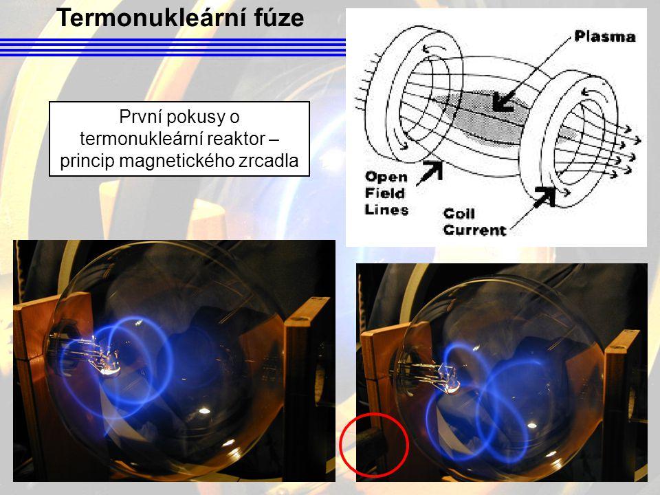 První pokusy o termonukleární reaktor – princip magnetického zrcadla