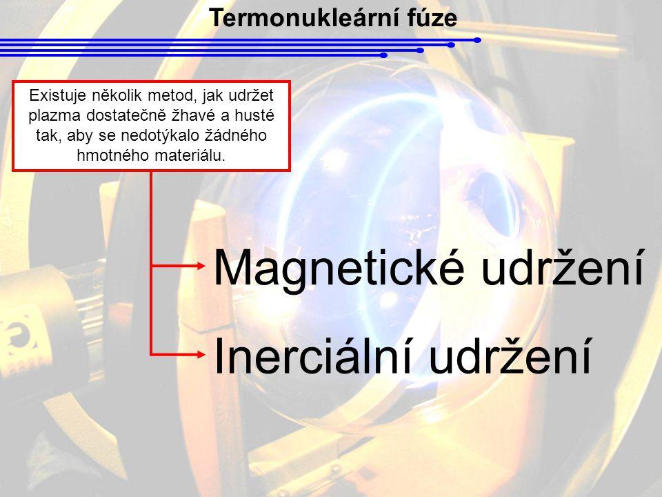 Magnetické udržení Inerciální udržení Termonukleární fúze