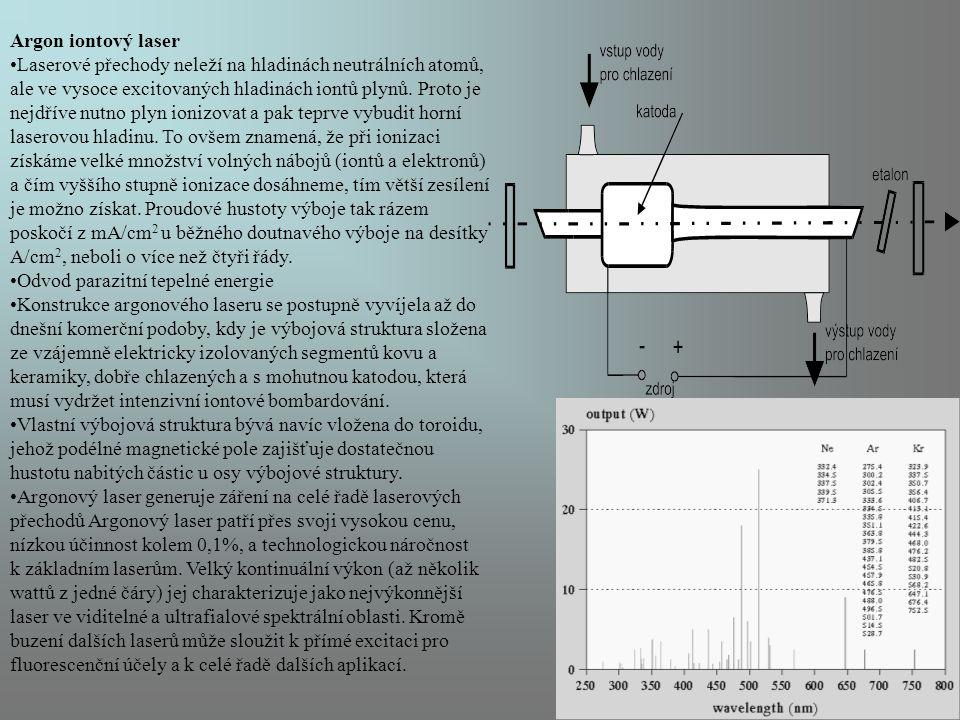 Argon iontový laser