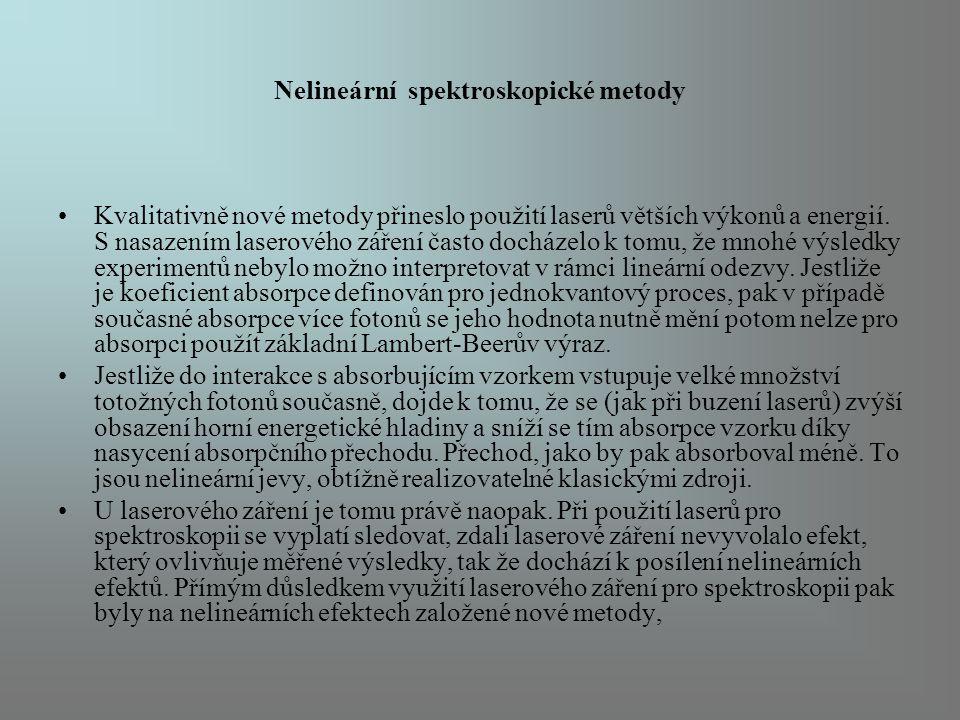 Nelineární spektroskopické metody