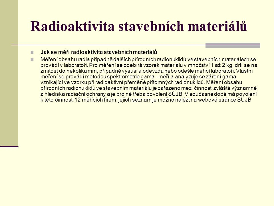 Radioaktivita stavebních materiálů