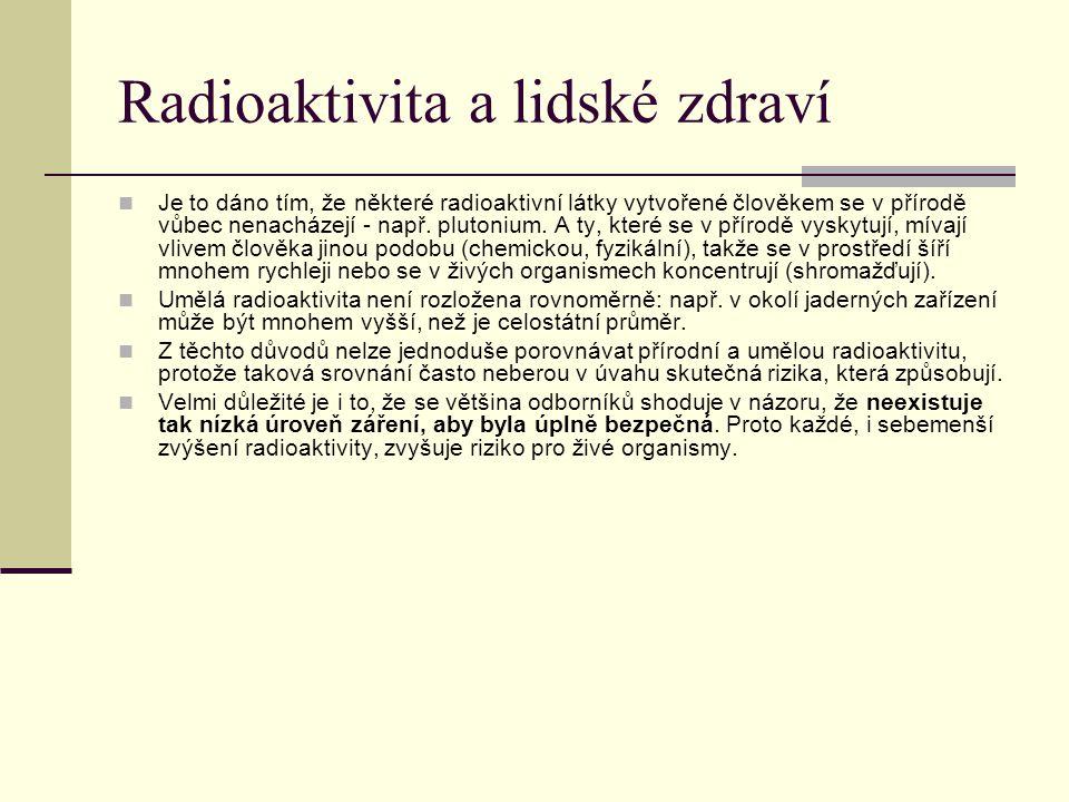 Radioaktivita a lidské zdraví