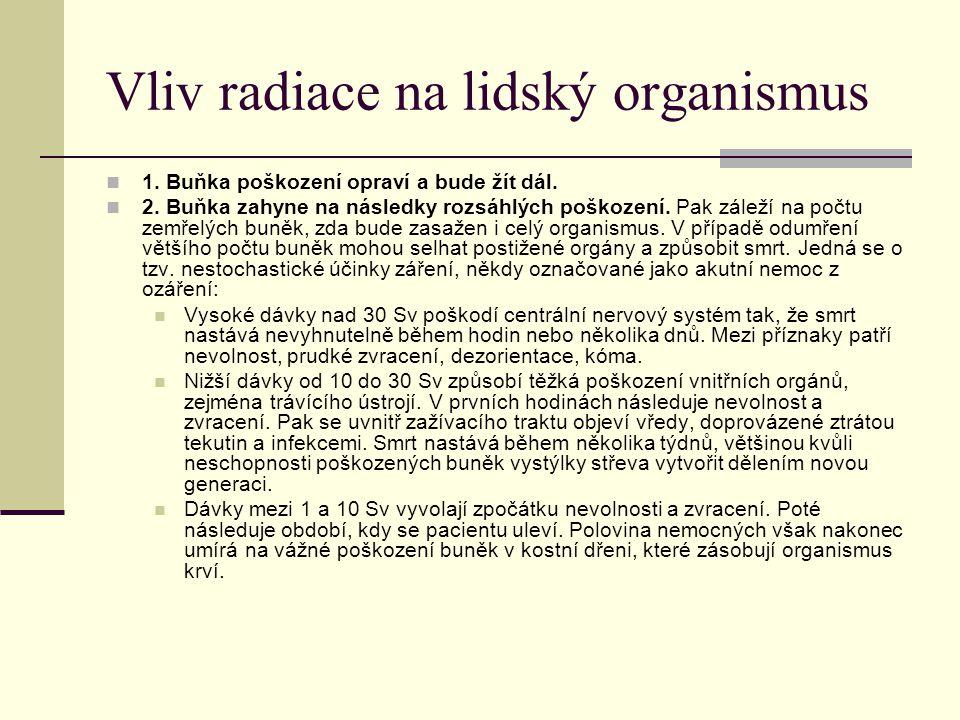 Vliv radiace na lidský organismus