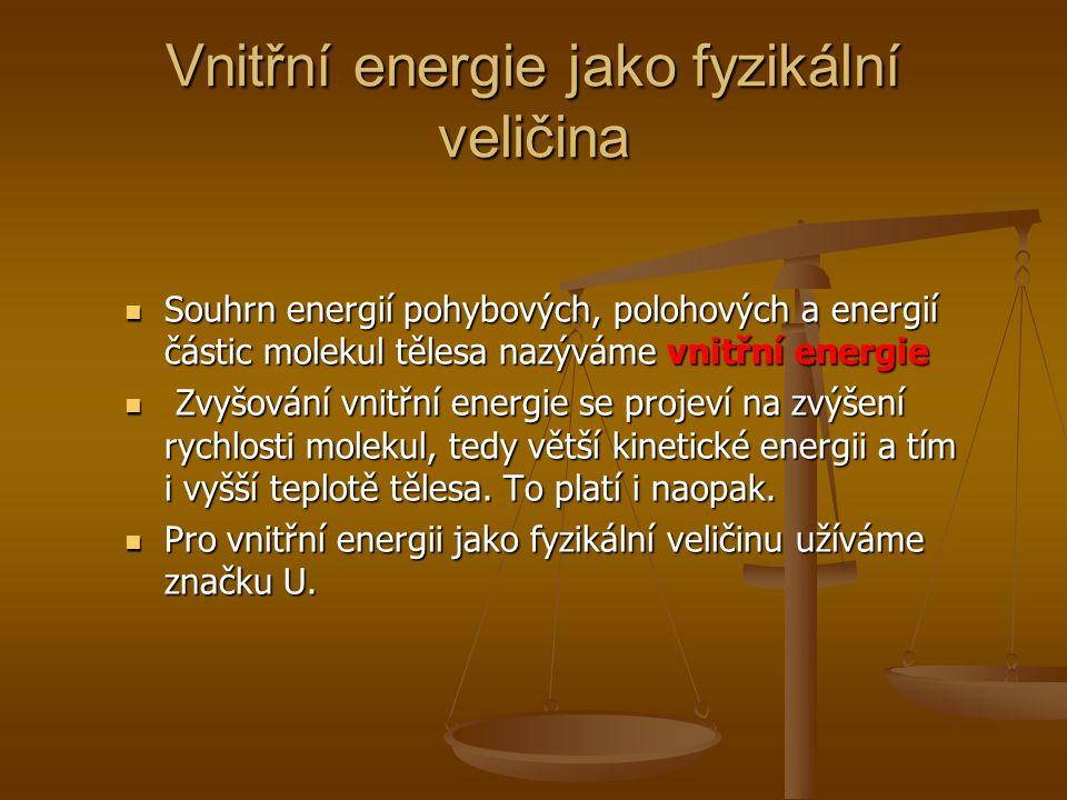 Vnitřní energie jako fyzikální veličina