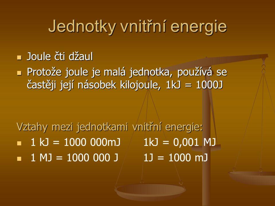 Jednotky vnitřní energie
