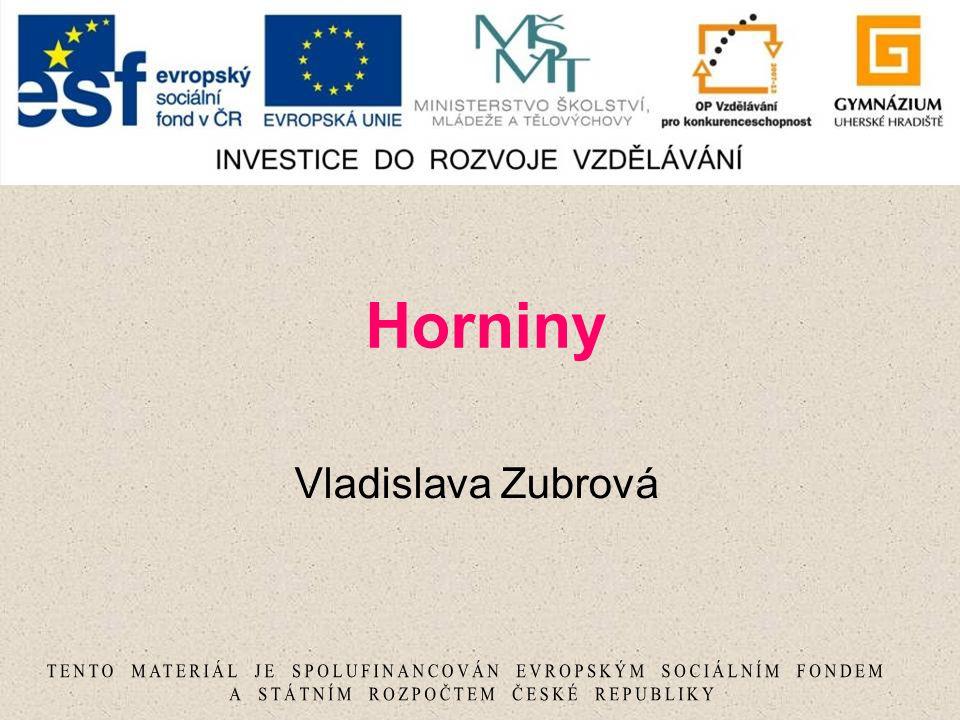 Horniny Vladislava Zubrová