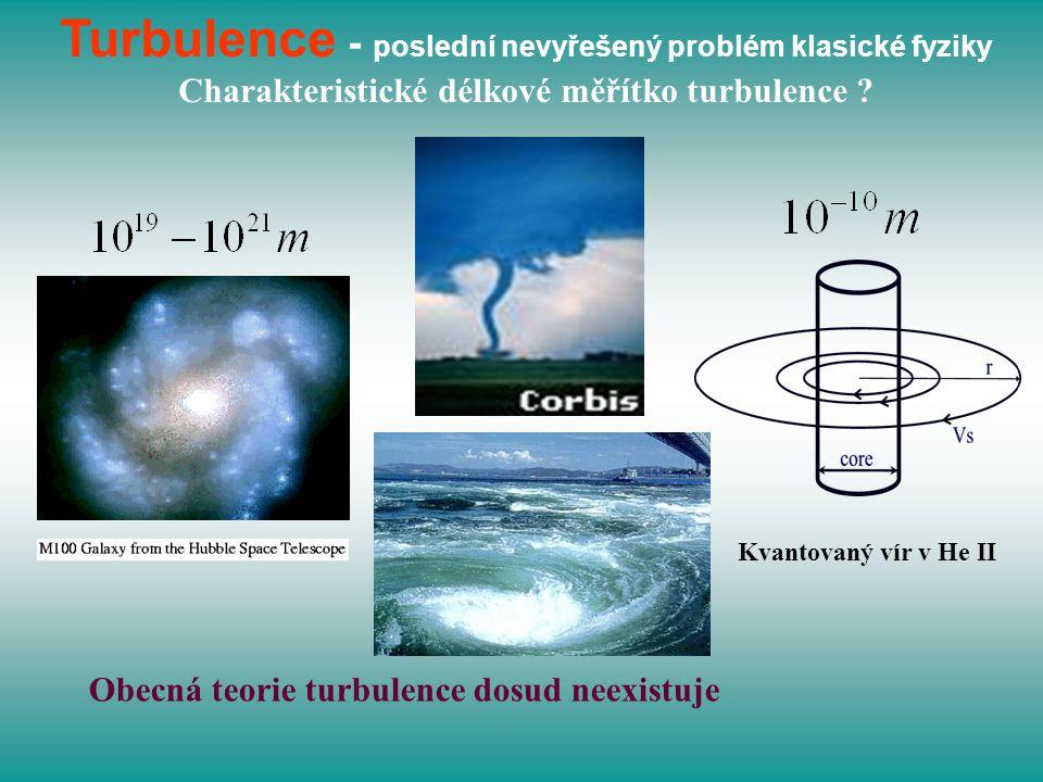 Turbulence - poslední nevyřešený problém klasické fyziky Charakteristické délkové měřítko turbulence