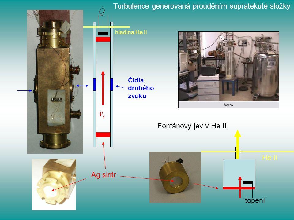 Turbulence generovaná prouděním supratekuté složky