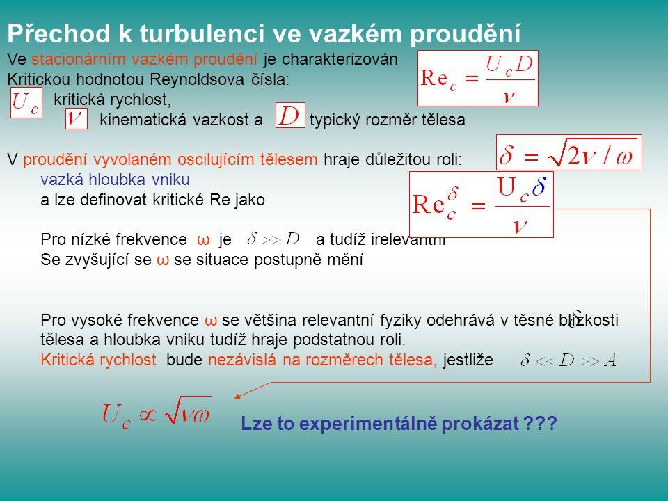 Přechod k turbulenci ve vazkém proudění