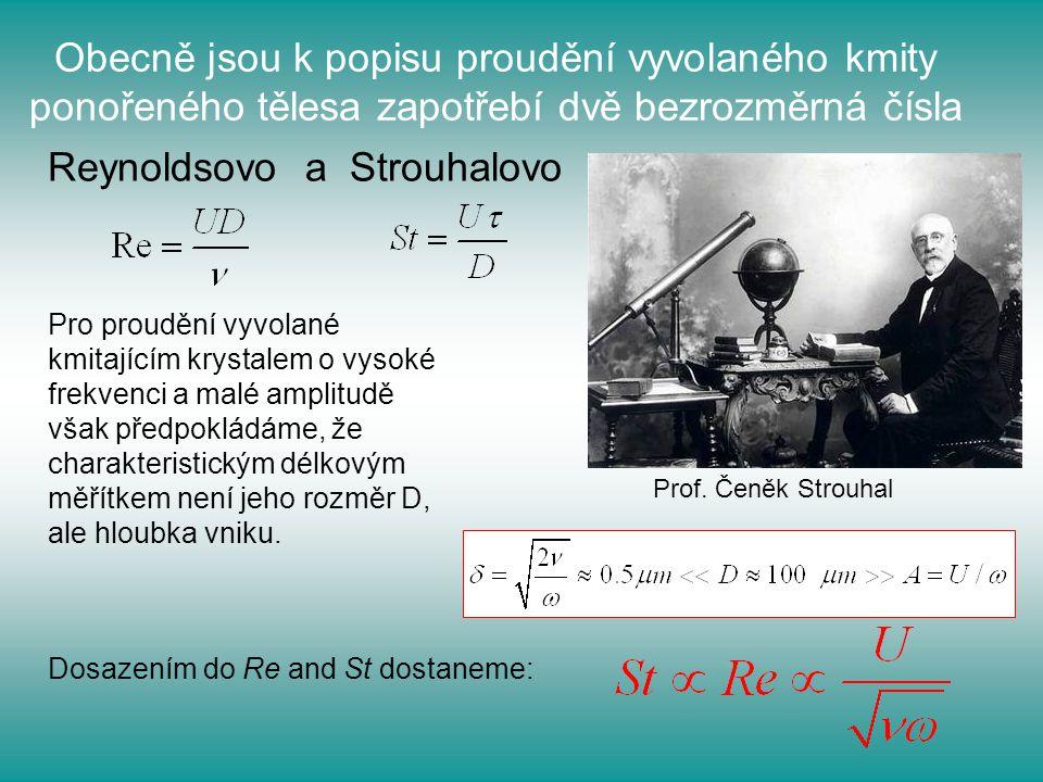 Reynoldsovo a Strouhalovo
