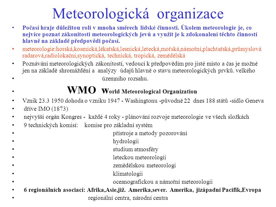 Meteorologická organizace