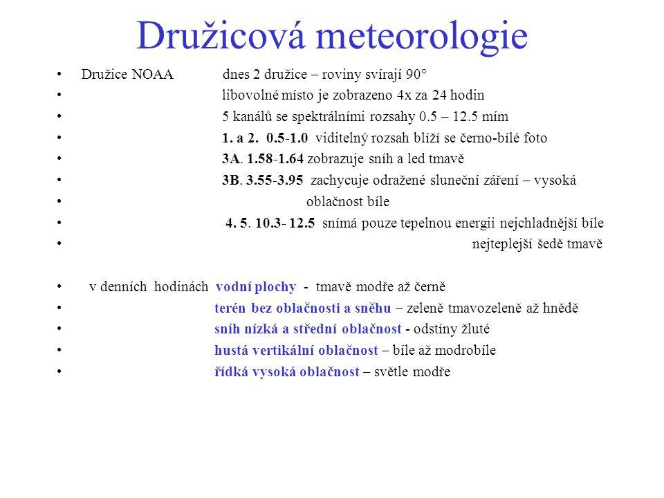 Družicová meteorologie