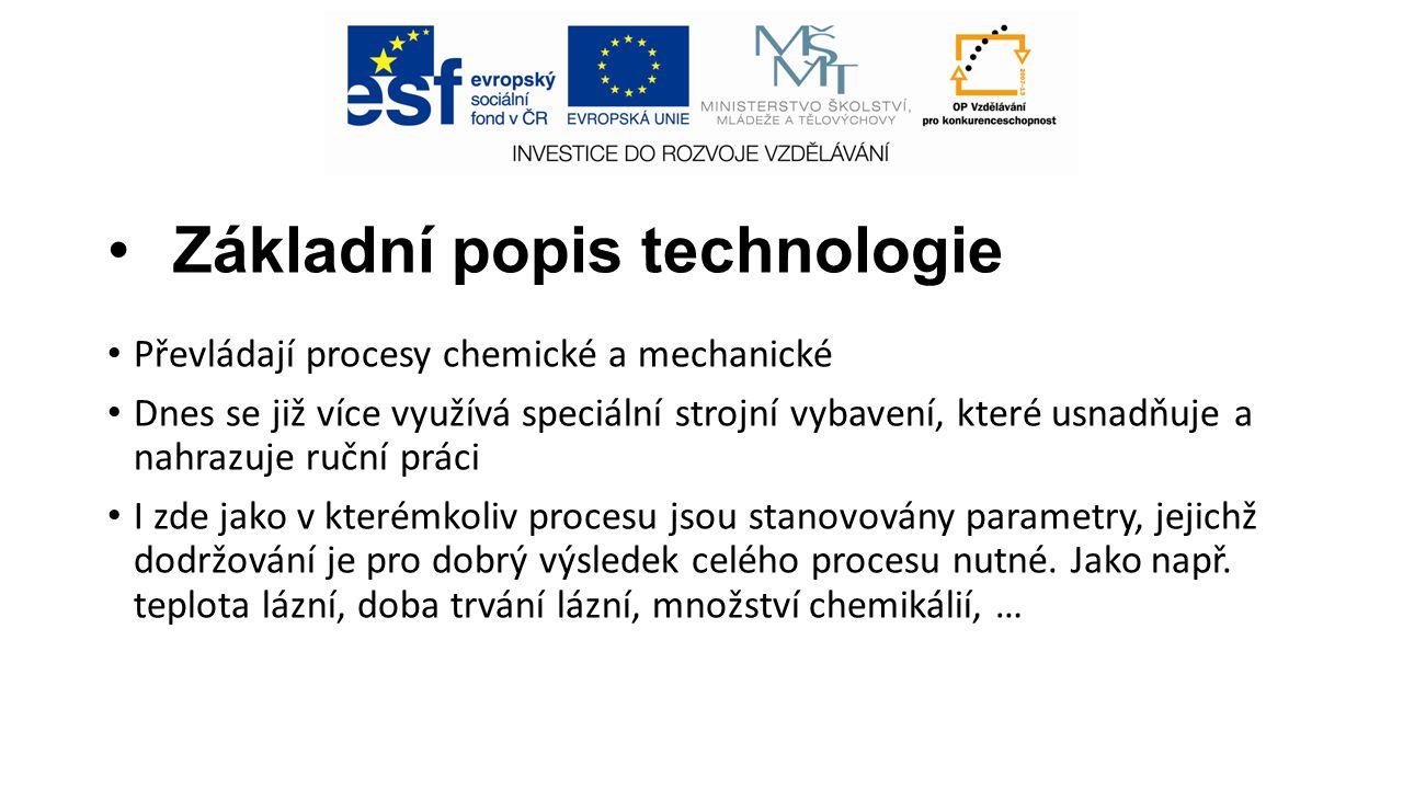 Základní popis technologie