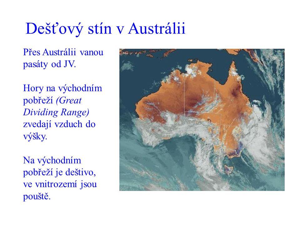 Dešťový stín v Austrálii