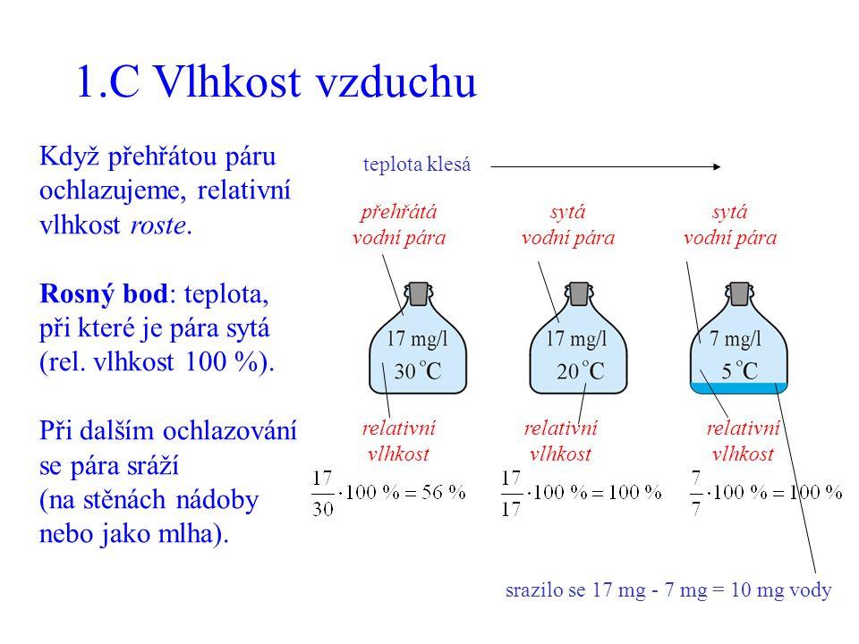 srazilo se 17 mg - 7 mg = 10 mg vody
