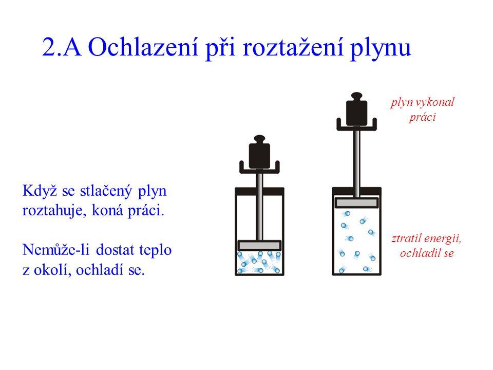 2.A Ochlazení při roztažení plynu