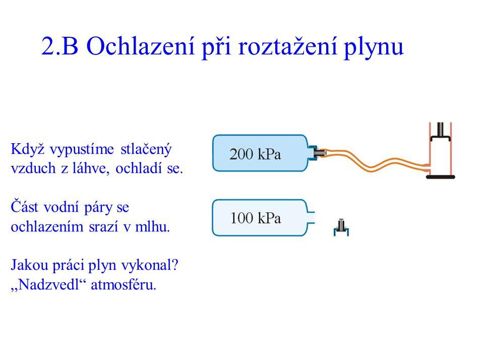 2.B Ochlazení při roztažení plynu