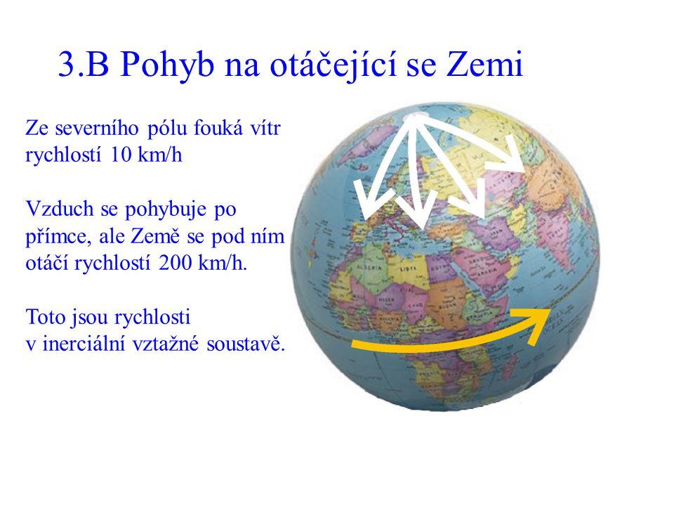 3.B Pohyb na otáčející se Zemi