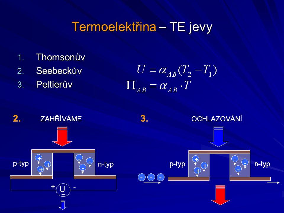 Termoelektřina – TE jevy