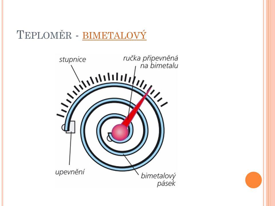 Teploměr - bimetalový