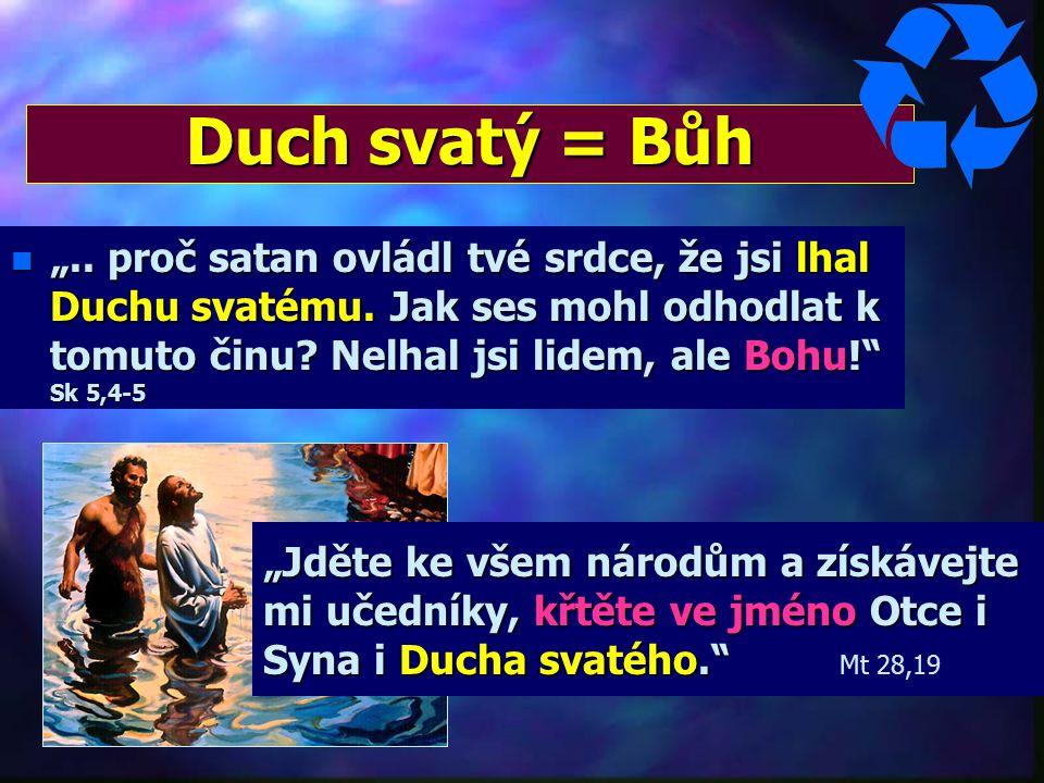 Duch svatý = Bůh