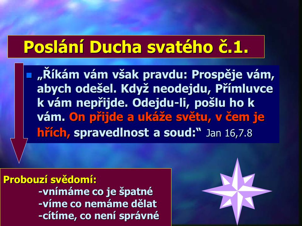 Poslání Ducha svatého č.1.