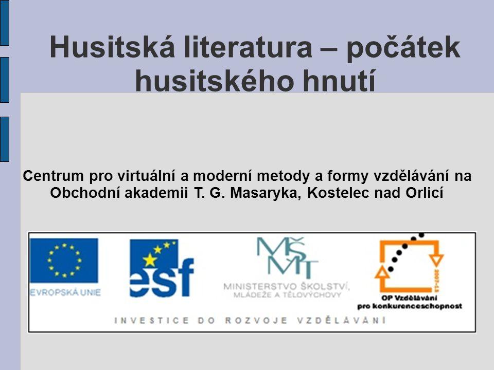 Husitská literatura – počátek husitského hnutí