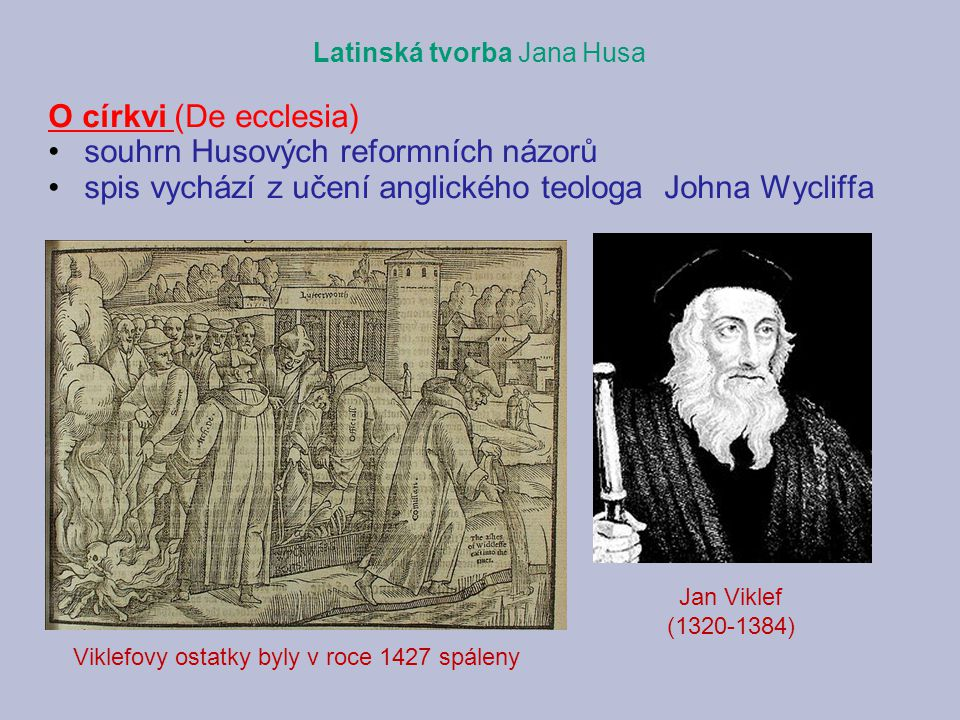 souhrn Husových reformních názorů