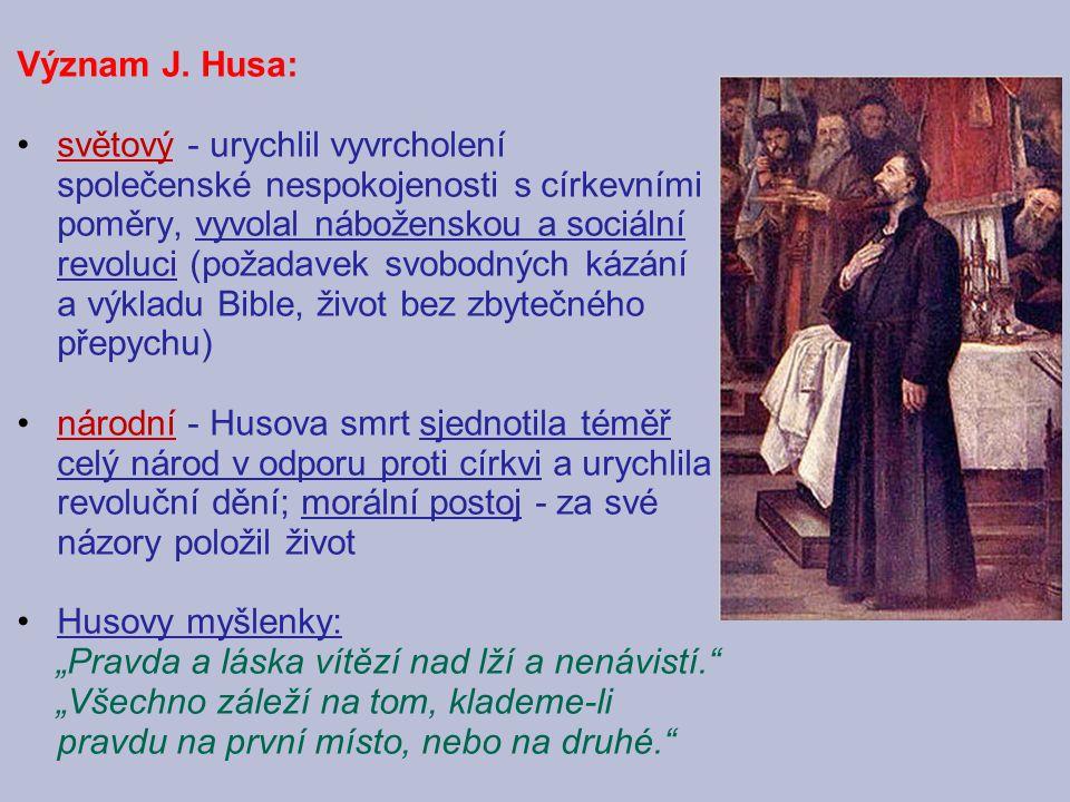 Význam J. Husa:
