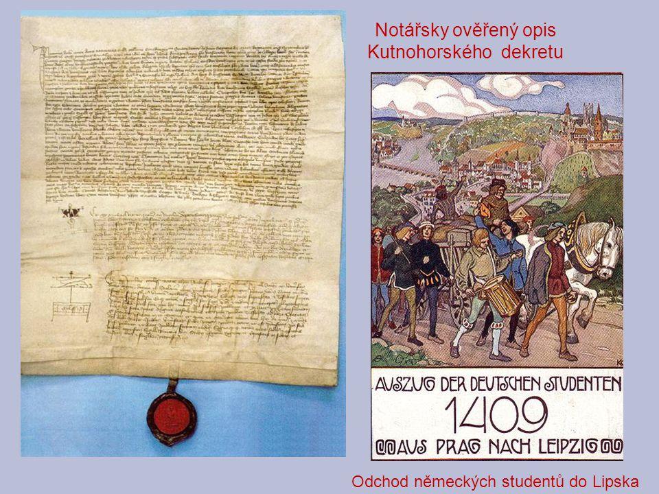 Notářsky ověřený opis Kutnohorského dekretu