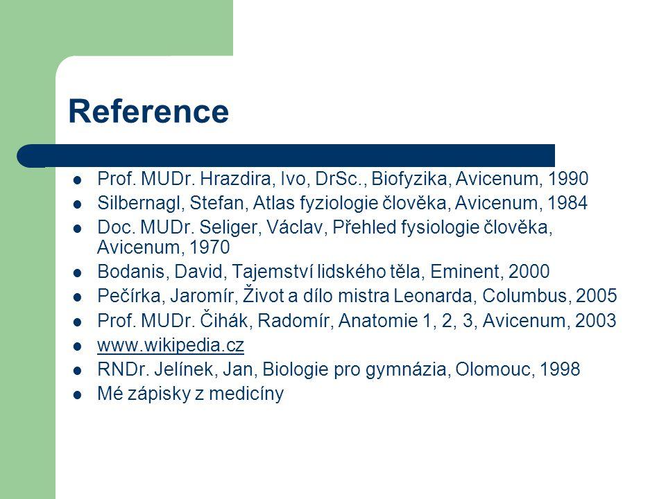 Reference Prof. MUDr. Hrazdira, Ivo, DrSc., Biofyzika, Avicenum, 1990