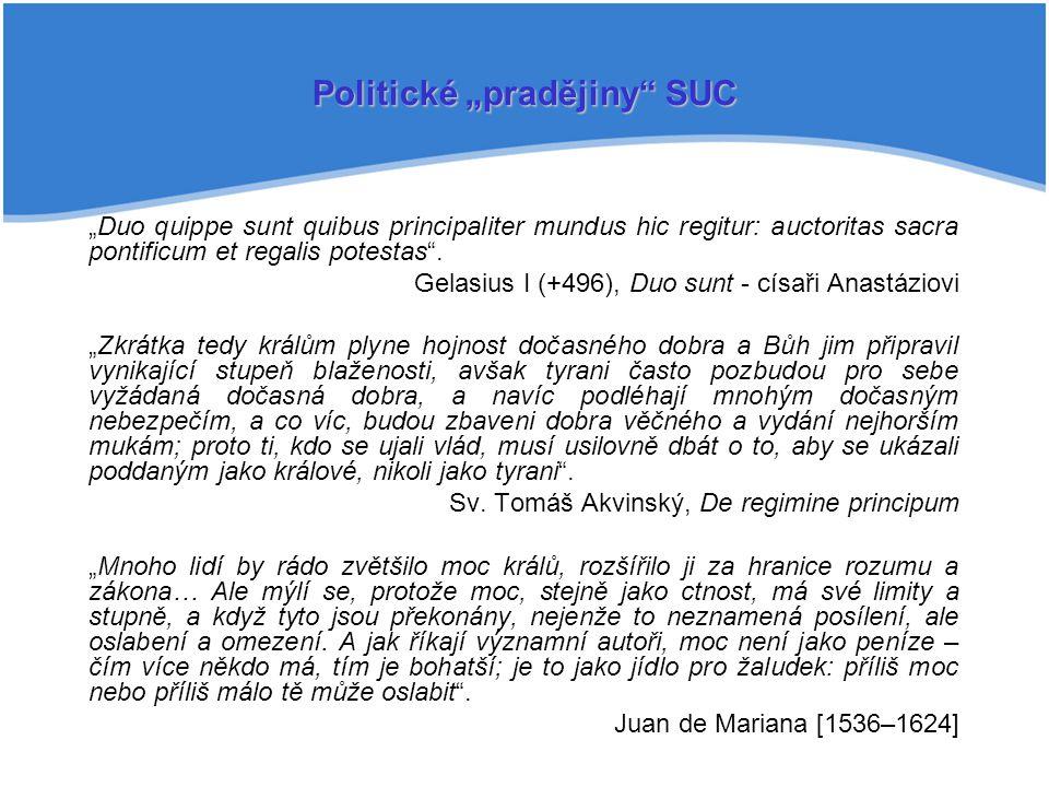 "Politické ""pradějiny SUC"