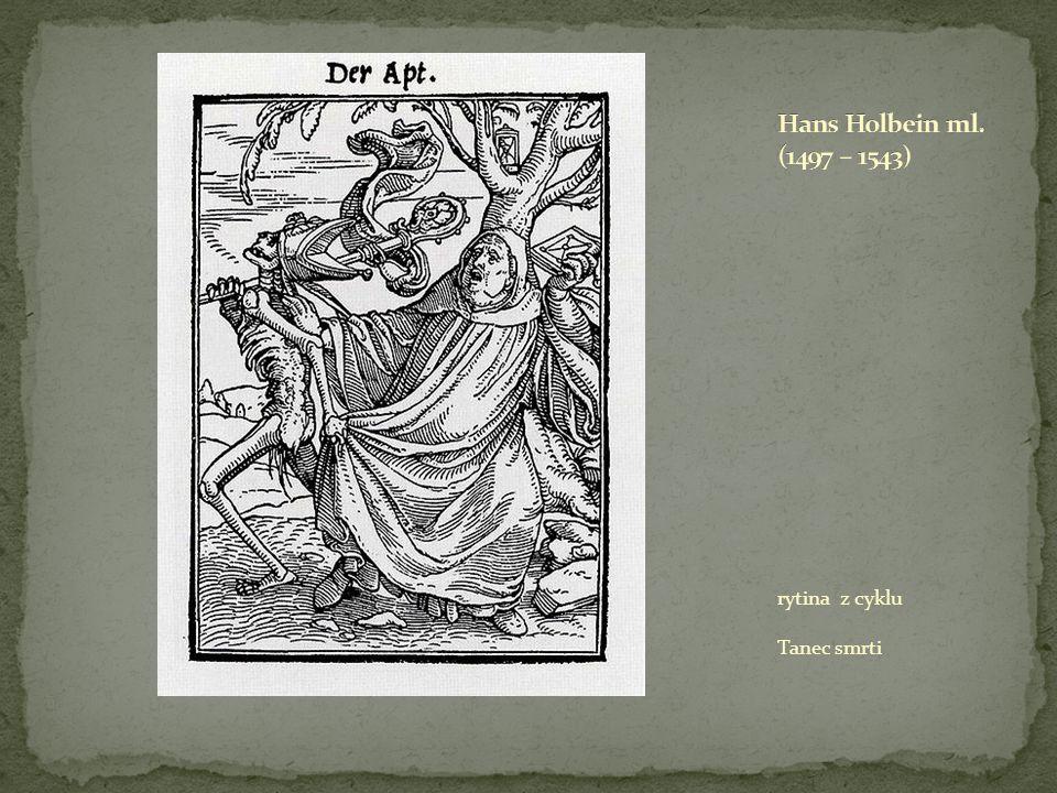 Hans Holbein ml. (1497 – 1543) rytina z cyklu Tanec smrti
