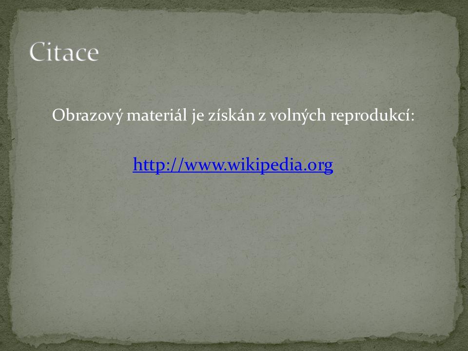 Obrazový materiál je získán z volných reprodukcí:
