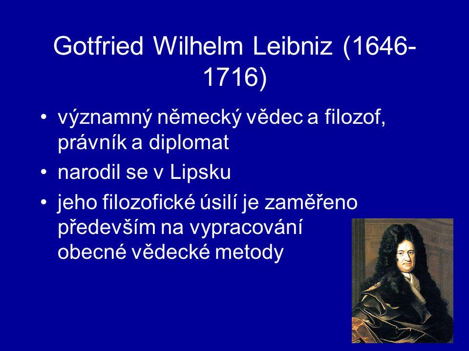 Gotfried Wilhelm Leibniz (1646-1716)