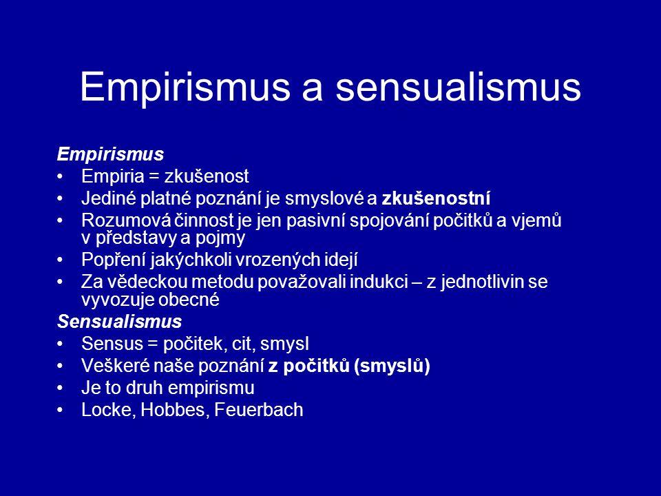 Empirismus a sensualismus