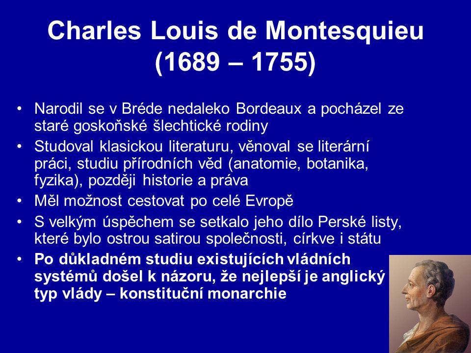 Charles Louis de Montesquieu (1689 – 1755)
