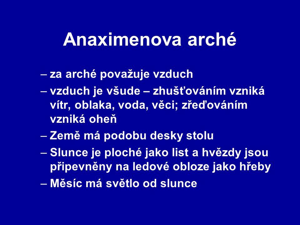 Anaximenova arché za arché považuje vzduch