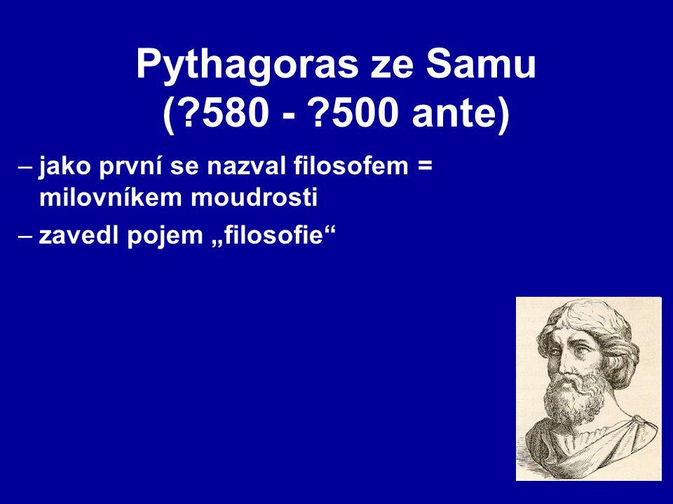 Pythagoras ze Samu ( 580 - 500 ante)