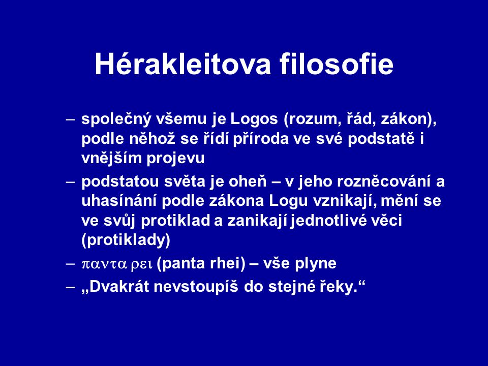 Hérakleitova filosofie