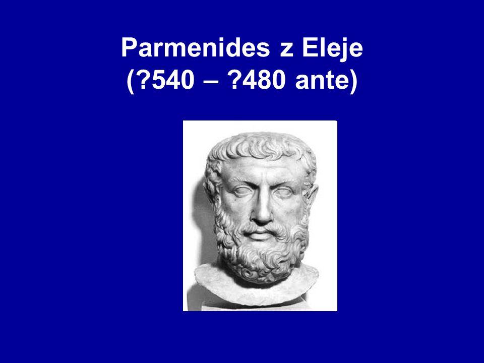 Parmenides z Eleje ( 540 – 480 ante)