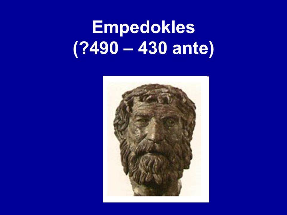 Empedokles ( 490 – 430 ante)